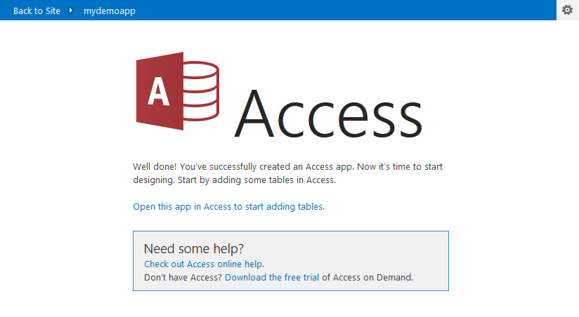 How To Create An Ms Access 2013 Web App From Within